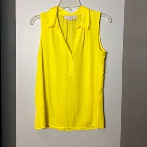 Bright yellow Loft shirt. Breezy and comfortable